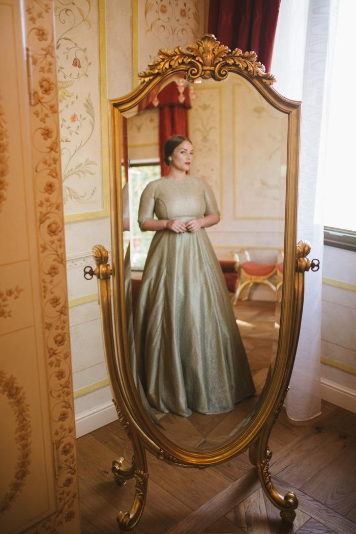 Paula's dress, full length antique mirror