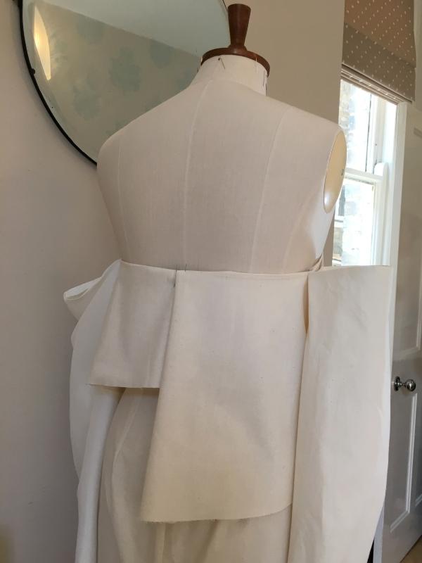 Sarah Barker bridal | off shoulder top toile | Kate